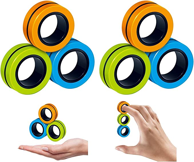 Ring Toy EDC Key Chain Fidget Hand Spinner Stress Relieve For Autism ADHD ADD CN