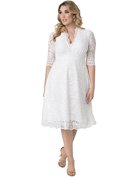 Kiyonna Womens Plus Size Wedding Belle Dress At Amazon Womens