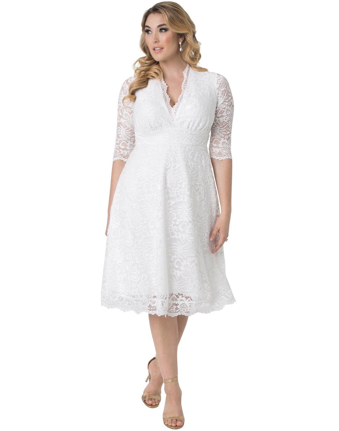 Kiyonna Women's Plus Size Wedding Belle Dress 0X Ivory