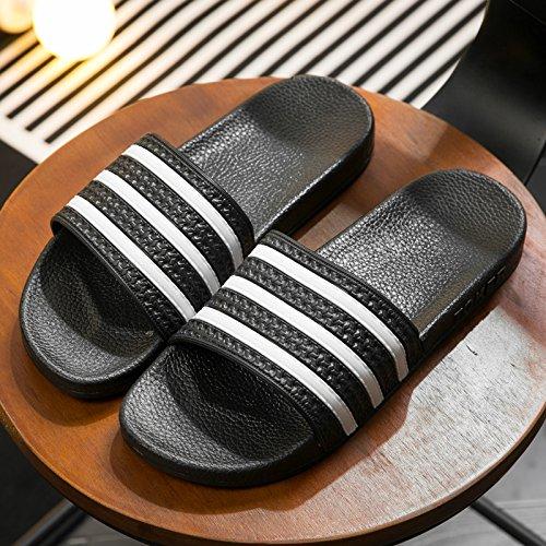47 bagno antiscivolo uomini coppie home indoor nero 46 home donne Pantofole estate per spessore pantofole pantofole cool di un bagno fankou pantofole qSPHn