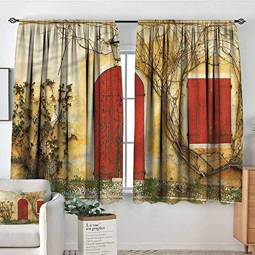 PriceTextile Shutters,Bocking Ight Rod Curtains Aged Doors Tuscan House 42
