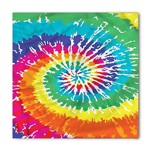 (Ambesonne Rainbow Bandana, Rainbow Tie Dye Effect, Unisex Head and Neck Tie)