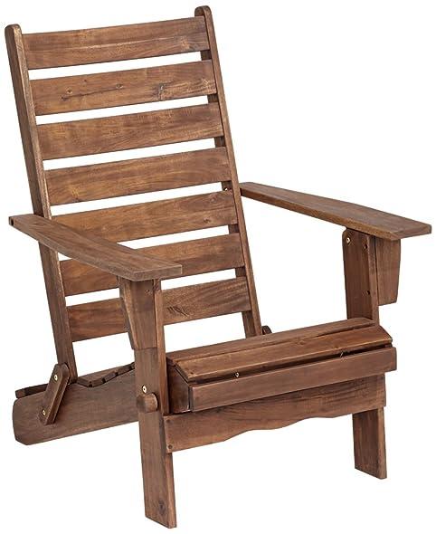 Sonoma Dark Natural Folding Adirondack Chair