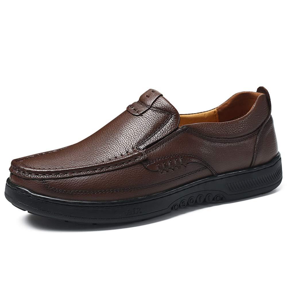 Mörkbspringaaaa herr skor Trösta Leisure Drivingloafers för för för män springat Toe Oxfords Casual Flat Penny skor Övre Slip På Stitch gående Boat skor Non -Slip  bekväm