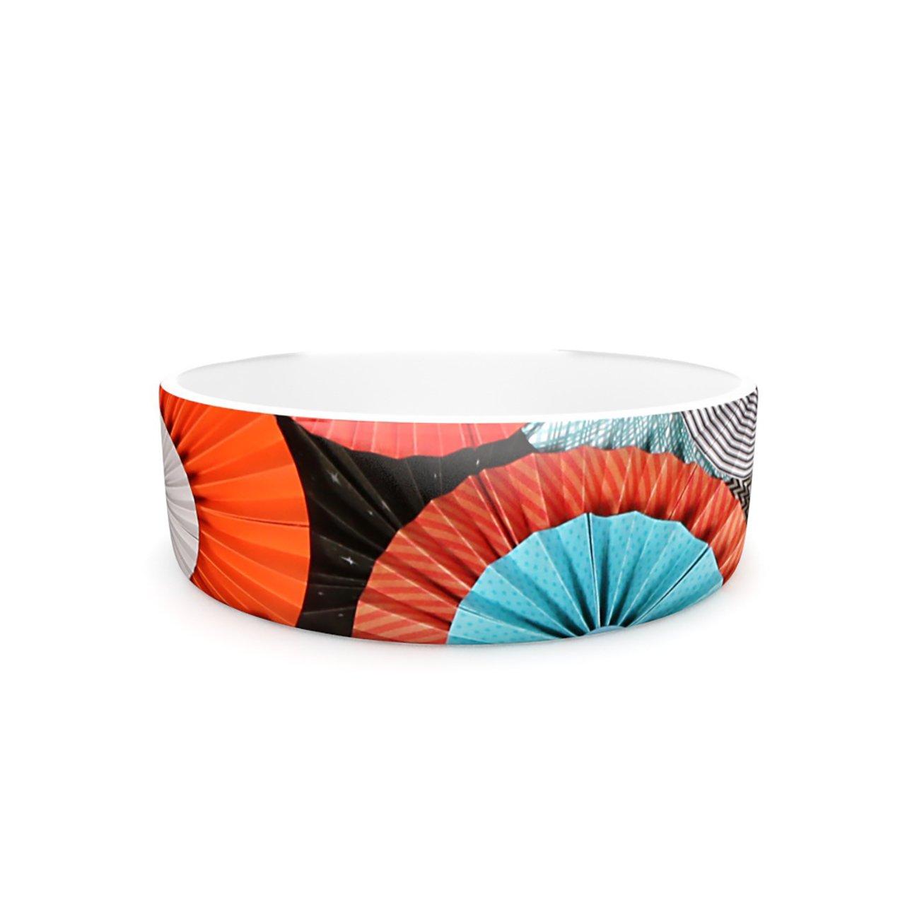 Kess InHouse Heidi Jennings Breaking Free  Pet Bowl, 7-Inch, orange bluee