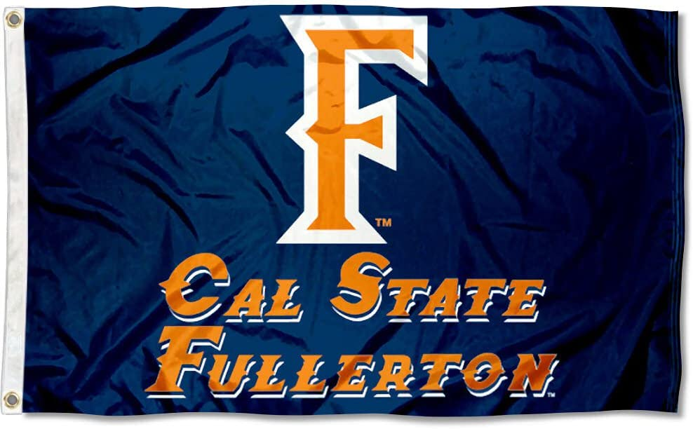 College Flags /& Banners Co Cal State Fullerton Titans Orange Car Flag