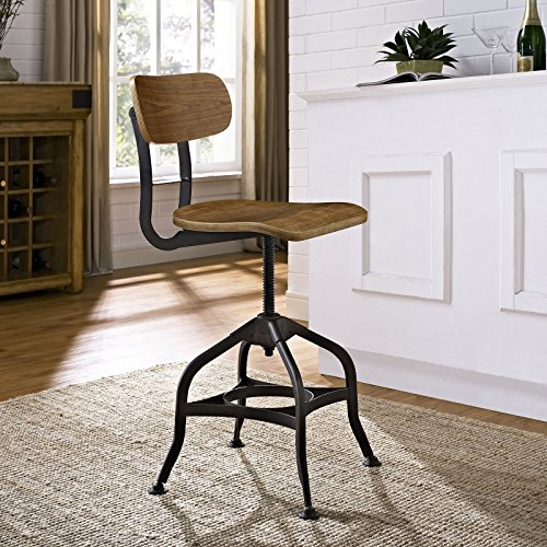 Modway Mark Industrial Dining Stool, Brown by Modway (Image #5)