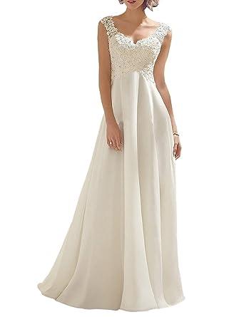 ea8fe1158f80b7 Women's Summer Style Sleeveless Lace Wedding Dress Long White Tube Dress  (size2)