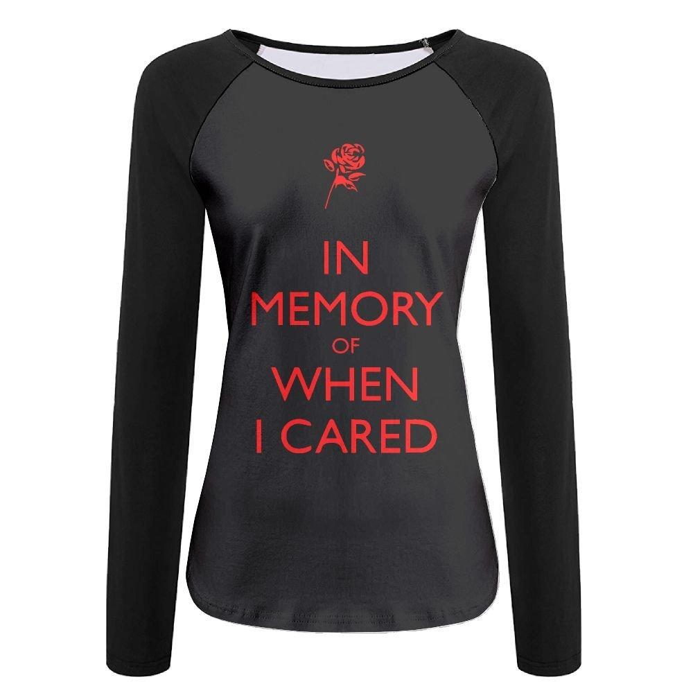 936444dad Amazon.com: Women T-Shirt, Fashion in Memory of When I Cared Long-Sleeved  Polo Shirt for Women: Clothing