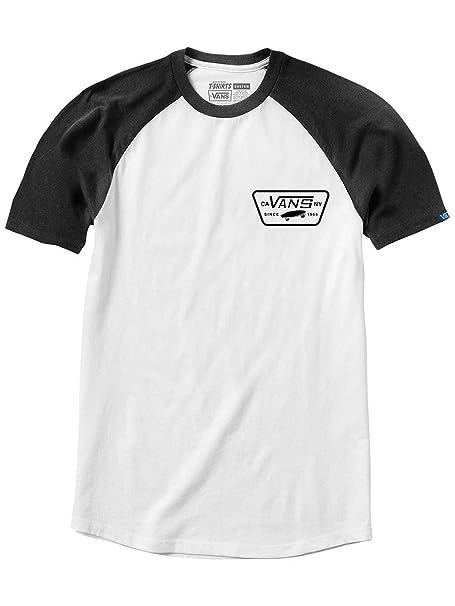 9a2cab204a Vans White-Black Full Patch Raglan T-Shirt (L