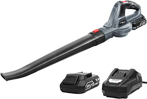 SALEM MASTER Leaf Blower Cordless with Battery and Charger 20V Battery Powered Lightweight Electric Leaf Blower for Patio Garage Driveway Porch Deck
