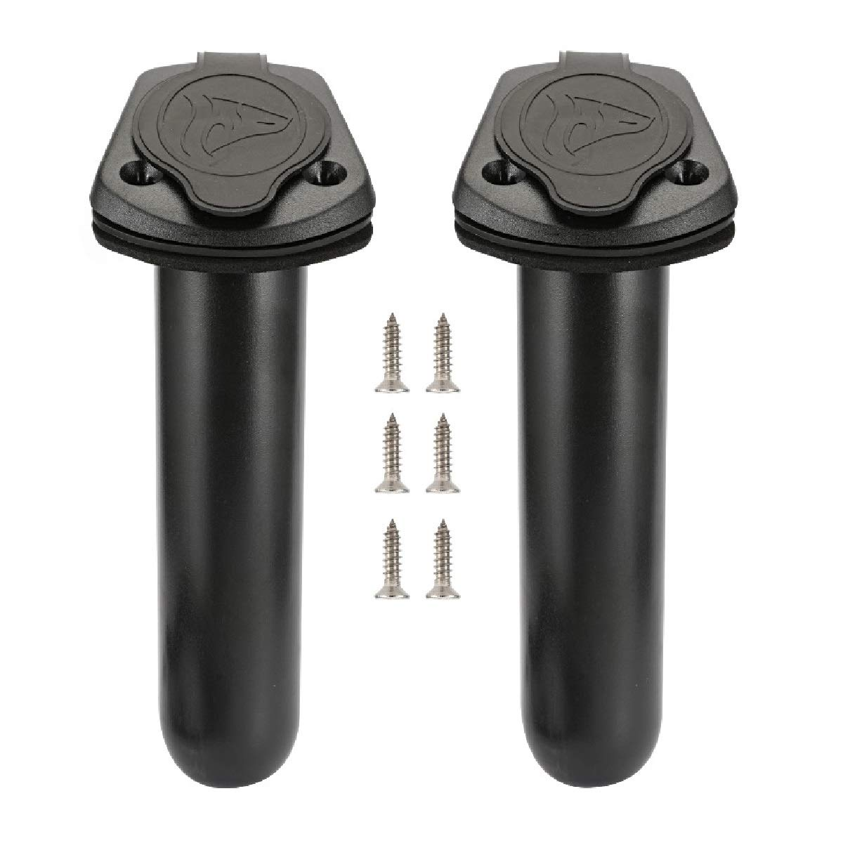 Anndason 2 Pcs Kayak Deck Plastic Flush Mount Fishing Boat Rod Holders and Cap Cover, Fishing Tackle Accessory Tool 61oisKUdUqL
