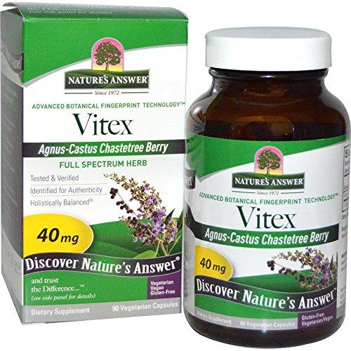 Nature's Answer, Vitex, Agnus-Castus Chastetree Berry, 90 Veggie Caps - 3PC