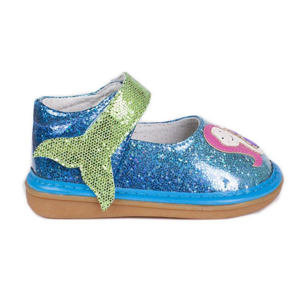 Wee Squeak Mermaid Mary Jane Toddler Squeaky Shoe