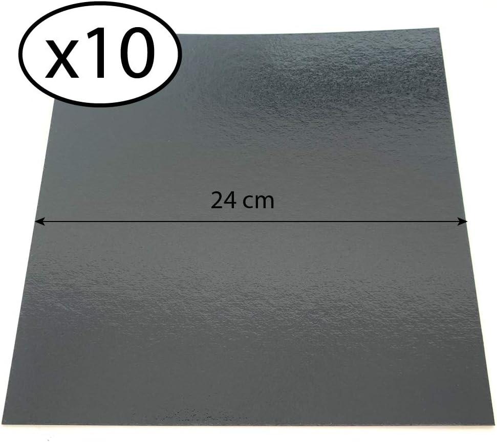 con Tallas de su elecci/ón Juego de 10 soportes de pastel cuadrados en cajas de colores Anis // Fushia, 18 cm