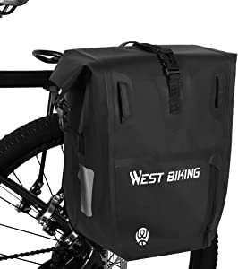 WESTLIGHT Bike Pannier Bag,25L Large Capacity Waterproof Luggage Carrier,Bicycle Cargo Rack Saddle,Bicycle Rear Seat Bag,Shoulder Bag,Riding Touring,Rack Trunks,Professional Cycling Accessories