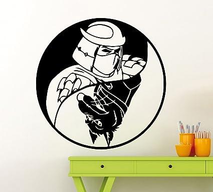 Shredder and Splinter Yin Yang Turtles Ninja Logo Wall Decal ...