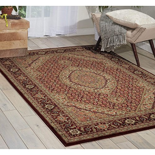 (Nourison Persian Arts (BD03) Brick Rectangle Area Rug, 3-Feet 6-Inches by 5-Feet 6-Inches (3'6