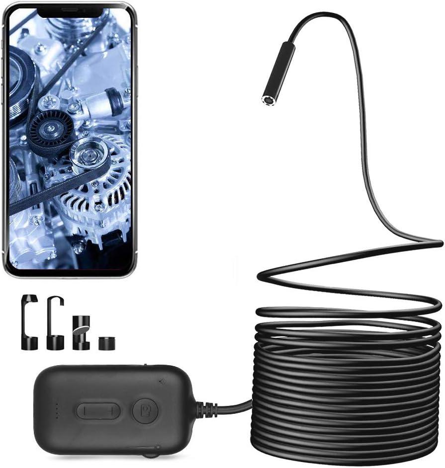 Zacro Wifi Endoskopkamera Hd Brennweite Mit 8 Einstellbaren Helligkeit Leds 3x Zoom 2 0 Megapixel Endoskop Wasserdicht Inspektionskamera Für Ios Android Smartphones Tablets 5m Auto