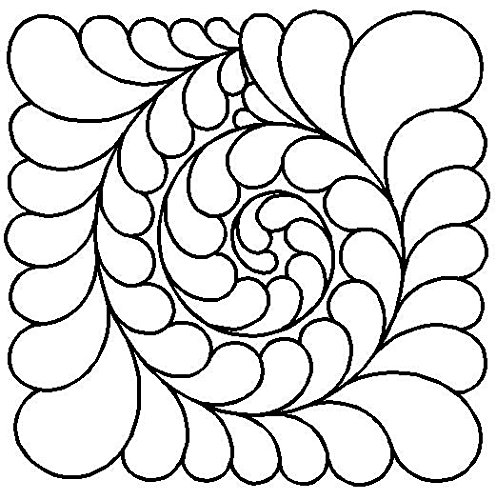 Quilting Creations Feather Swirl Quilt Stencil, 11'' by Quilting Creations