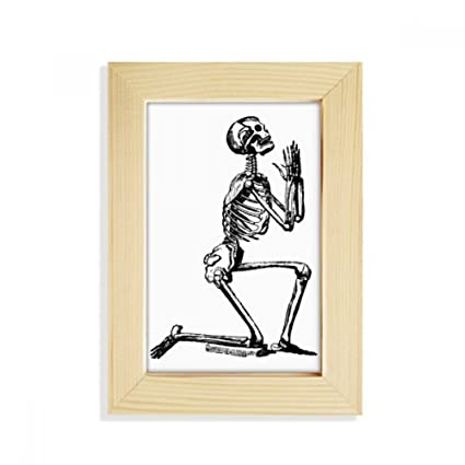 Amazon.com - DIYthinker Praying Human Skeleton Sketch Desktop Wooden ...