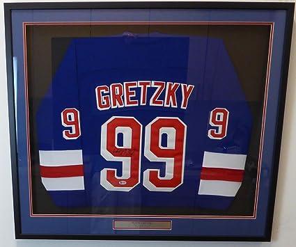 New York Rangers Wayne Gretzky Autographed Framed Authentic CCM Jersey  Beckett BAS  A14408 c6acb1861