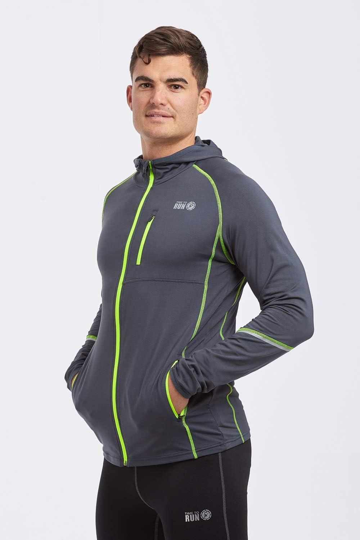 Time To Run Chaqueta T/érmica Deportiva para Hombre con Capucha Running
