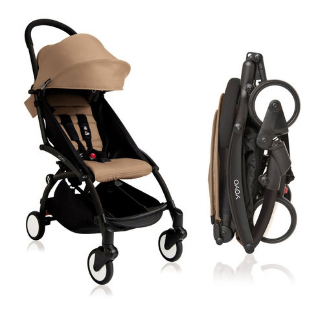BabyZen 2018 Yoyo Stroller Black Frame Taupe