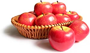 Artificial Apples Fake Frutis Apples, Simulation Apples for Home Decoration Lifelike Normal Size Apples Fake Apples for Kichen Party Chirstmas Decor (6 Pcs Red Apple)