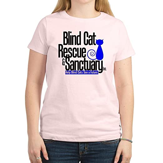 db506195f075a Amazon.com  CafePress - Blind Cat Rescue   Sanctuary Women s Light T ...