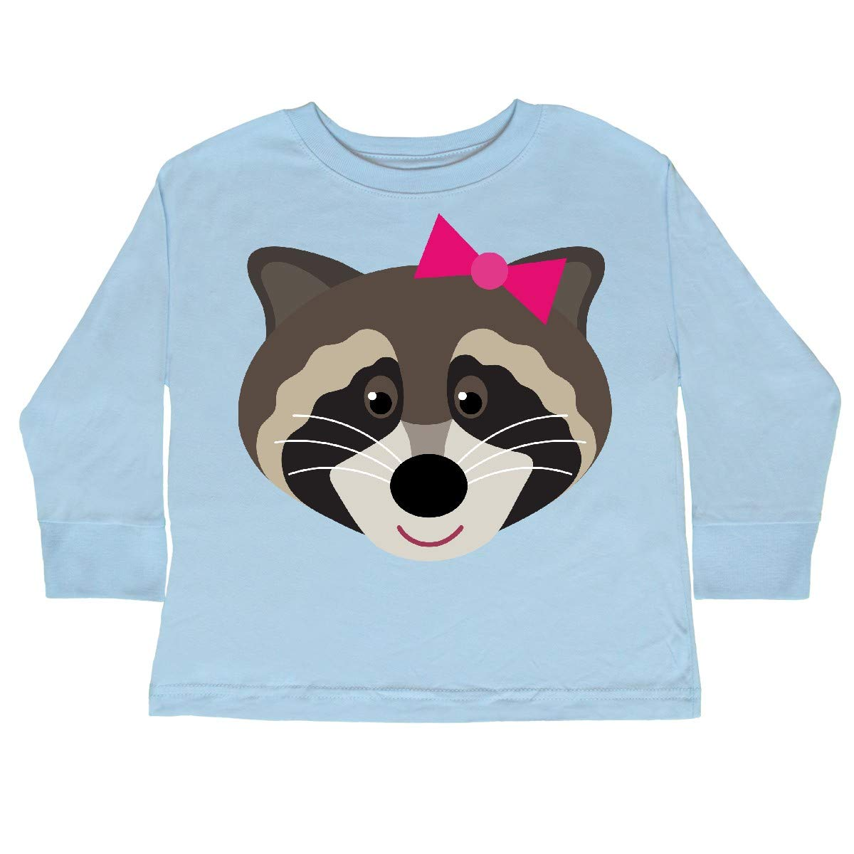 inktastic Raccoon Girl Animal Toddler Long Sleeve T-Shirt