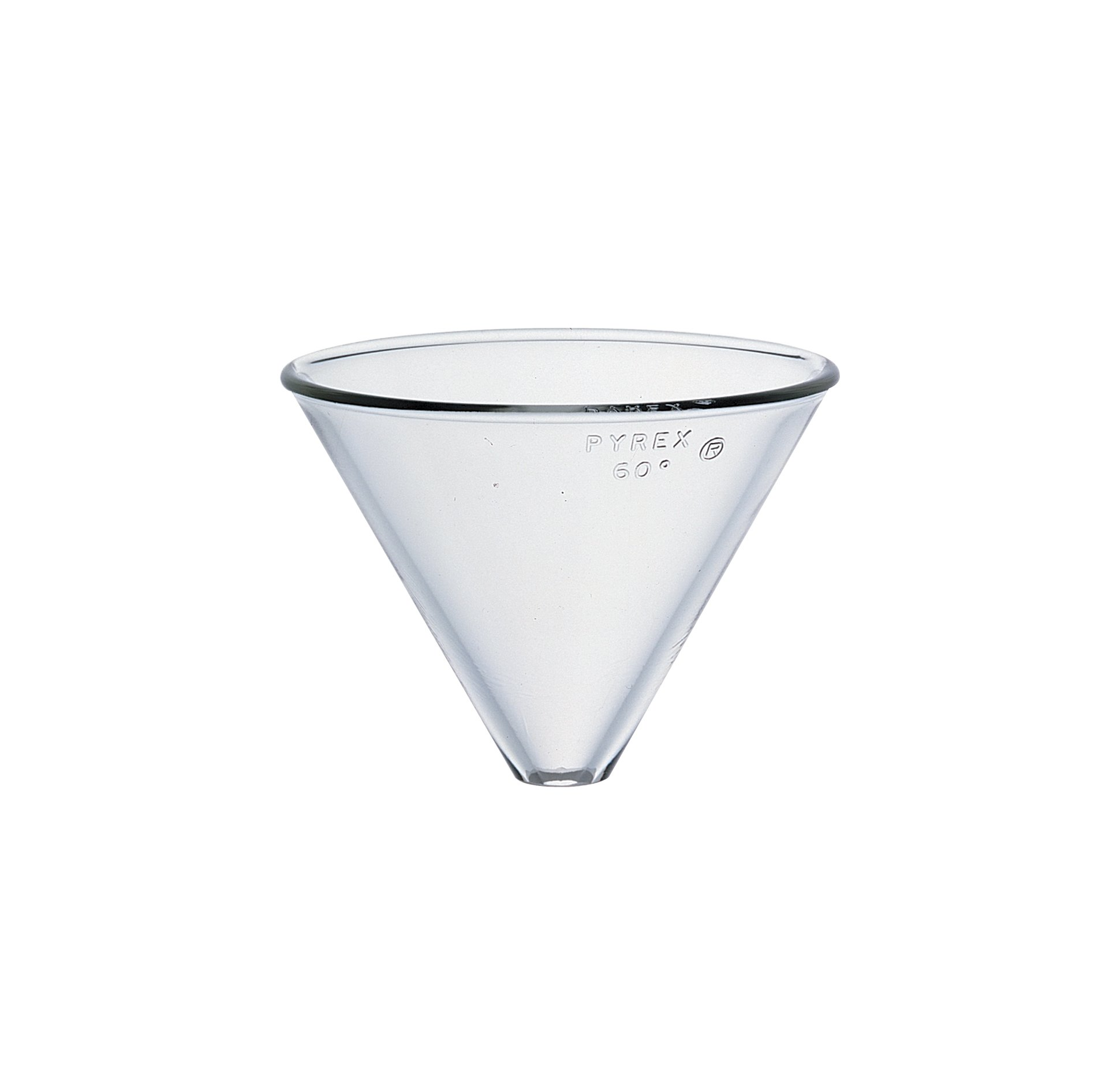 Corning Pyrex Borosilicate Glass Plain Stemless Funnel, 100mm Top I.D by Pyrex