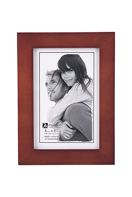 Amazon.com - Malden 4x6 Picture Frame - Wide Real Wood Molding, Real ...