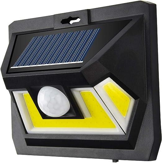 Luces Solares Jardín,STRIR 54LED Focos Solares 1200mAh Lámparas Solares Exterior con Sensor de Movimiento, Luz de Pared Solar Segura Impermeables con 3 modos para Jardín,Patio,Camino: Amazon.es: Iluminación