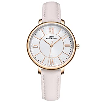 IBSO Ladies Watches Leather Band Round Case Fashion Women Watches on Sale relojes Mujer (8240L