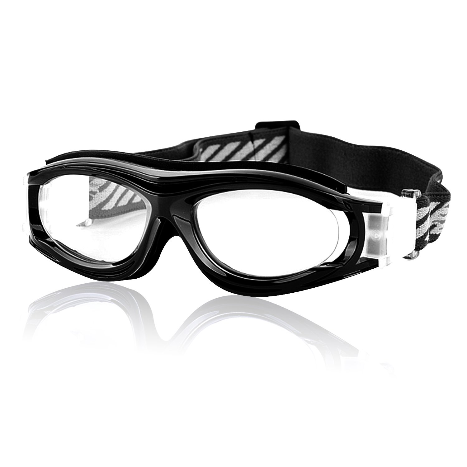 42c54c2ca5c3 Unisex Kids Sports Glasses Anti-UV Shock-Proof Protective Glasses Safety  Goggles w  Adjustable Strap for Basketball Football Hockey Rugby Baseball  Soccer ...