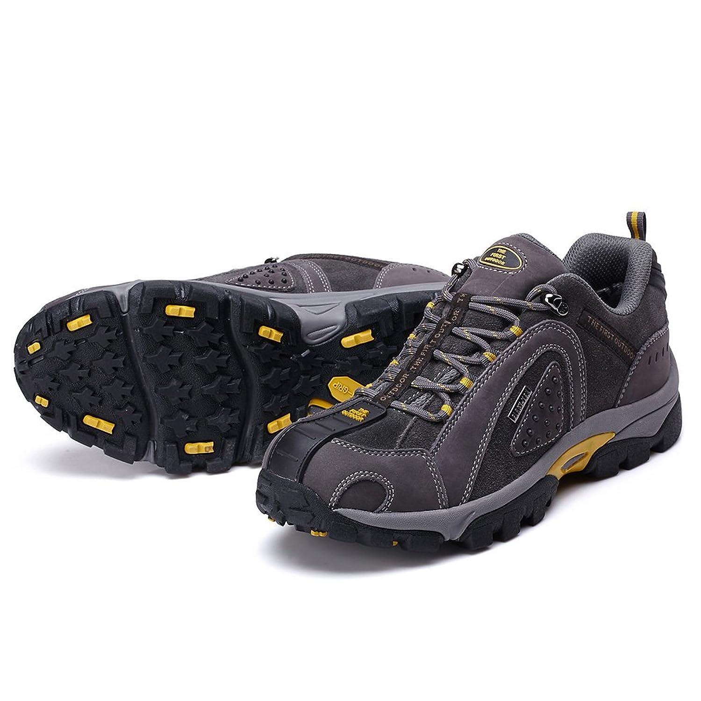 TFO da Uomo Outdoor Scarpe da Trekking Impermeabile Trekking da Uomo a Vita Bassa Arrampicata Scarpe Antiscivolo Scarpe, Grigio (Dark Grey), 39,5 EU