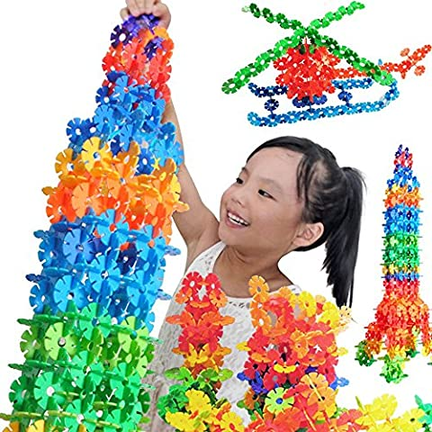 parit 150pcs/set Plastic DIY Puzzle Snowflake Blocks Building Educational kids toy Children - Case Front End Loaders