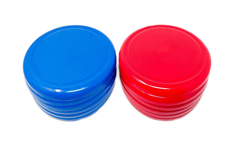 10インチ プラスチック フライングディスク 究極のフリスビー マルチカラー - 屋外遊び 家族 楽しい時間 - 12個パック (赤、青) B07HZ3MG1V