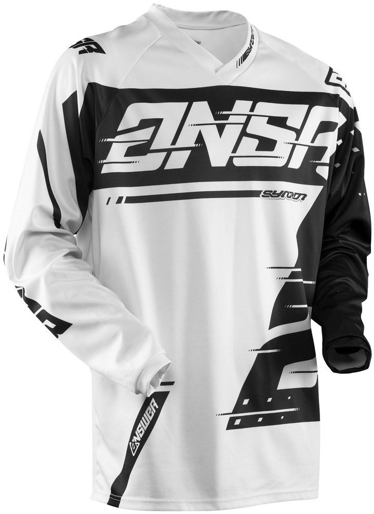 Answer Racing A18 Syncron Men's Off-Road Motorcycle Jerseys - Grey/Black / Medium