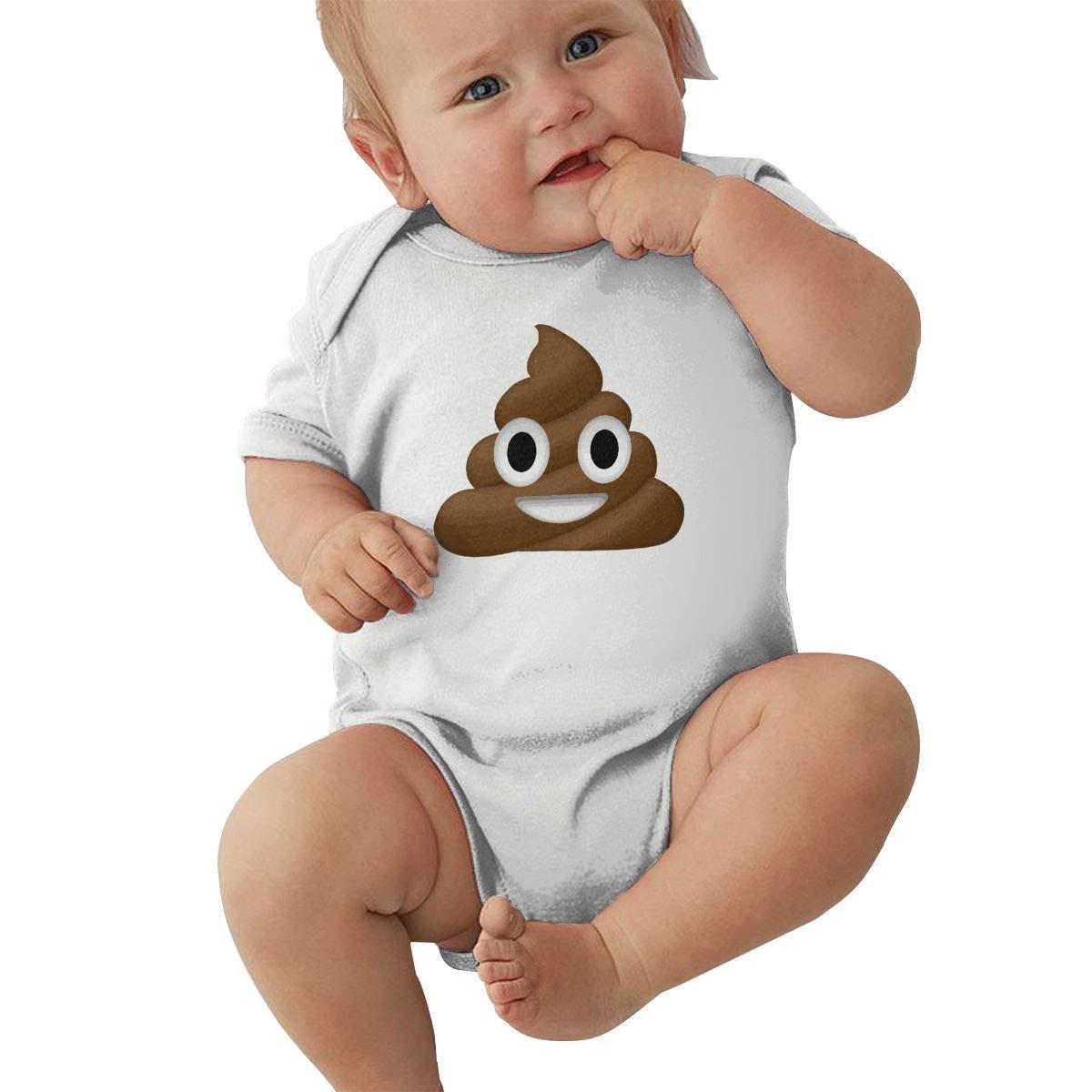 Mri-le2 Baby Girl Short Sleeve Jumper Bodysuit Poop Funny Baby Clothes