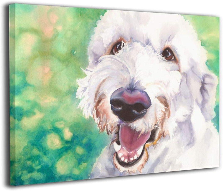 Colorful Golden Doodle art on canvas or paper Goldendoodle decor Canvas or Archival Paper options Goldendoodle Art Print