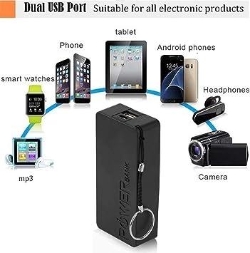 Momorain 6 Colores 5600mAh 5V USB DIY Powerbank Case Caja de Almacenamiento de batería Externa portátil Power Bank Case para teléfonos móviles: Amazon.es: Electrónica