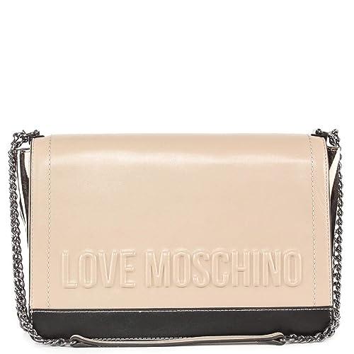 bb67a04418f Love Moschino Women s Shoulder Bag White White White Size  One size fits all