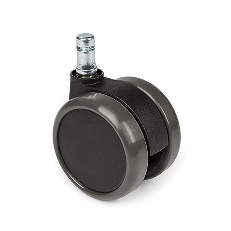 hjh OFFICE 619010 ruedas para suelo duro ROLO 11 mm / 65 mm para sillas de