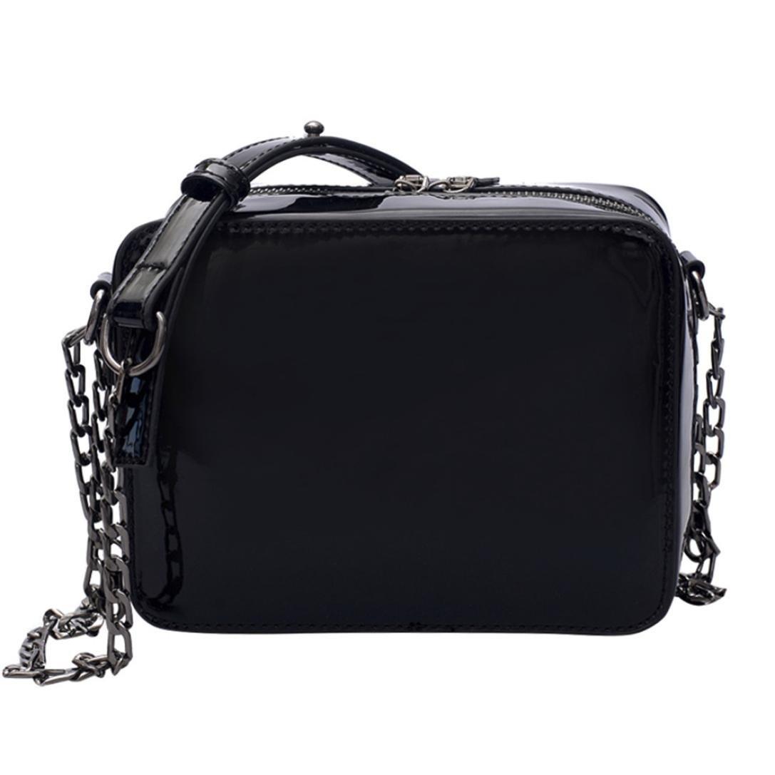 Clearance Shoulder Bag,SanCanSn Girl Fashion Laser Flap Bag Lady Pretty Crossbody Shoulder Bag for Women (1PC, Black)