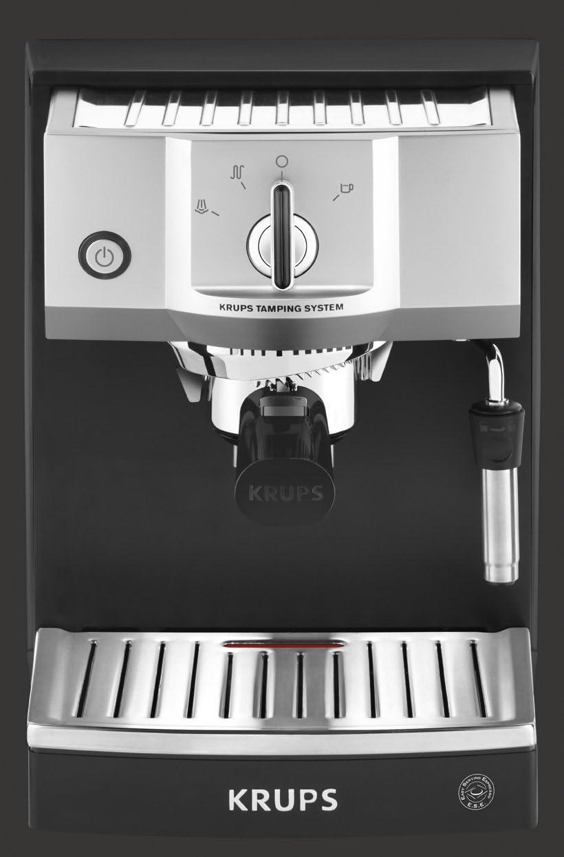 Krups XP562010 Steam & Pump Máquina De Espresso, 1400 W, Acero Inoxidable, Negro/Plateado [Clase de eficiencia ...