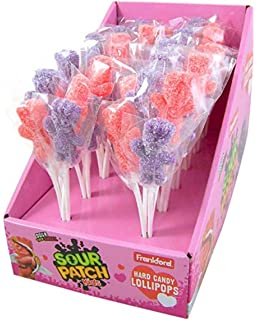 Red and Purple Hard Candy Sour Patch Kids Lollipop Bouquet (12 Pack)
