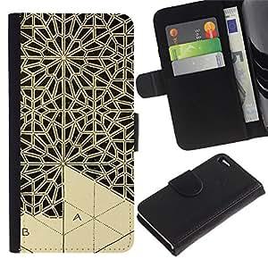 KingStore / Leather Etui en cuir / Apple Iphone 4 / 4S / Arte Artesanía Encaje Talla;