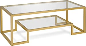 Henn&Hart CT0066 Coffee Table, One Size, Gold